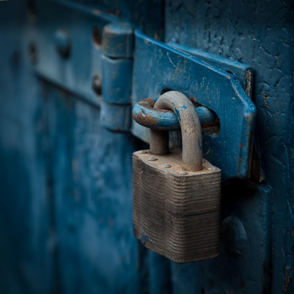 Blue Doors Locked